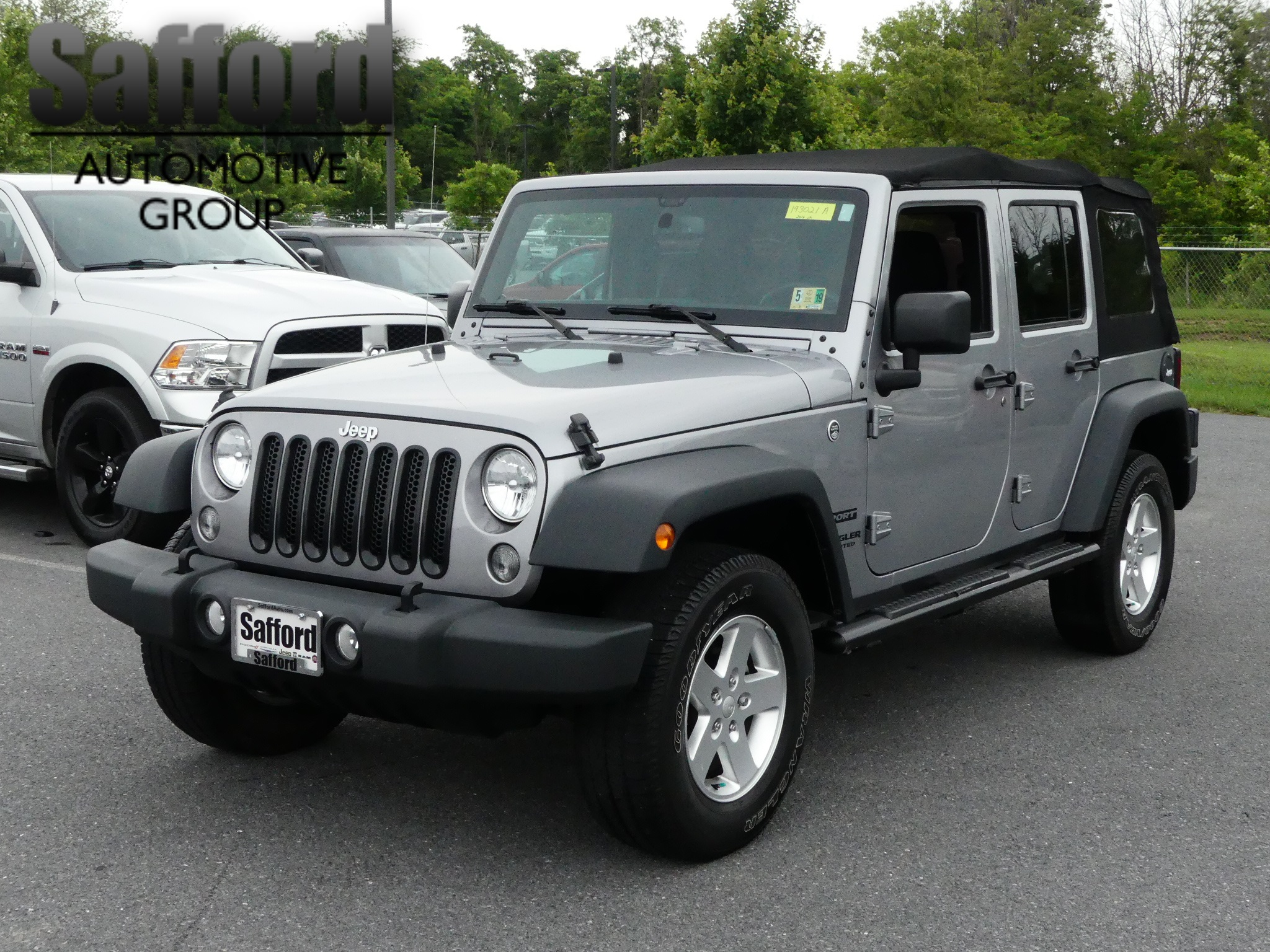 Certified Pre Owned 2016 Jeep Wrangler Unlimited Sport Convertible